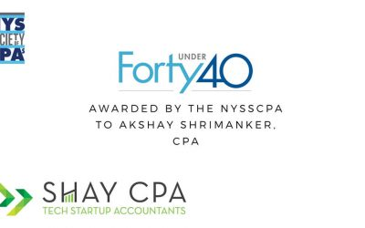 Akshay Shrimanker awarded Forty Under 40 award by the NYSSCPA